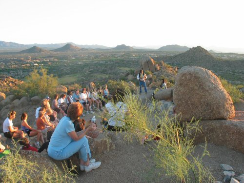 """Presentation by Native American to Pinnacle Peak Hikers"" by Frank Biondo"