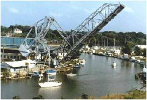 Large Crane in Ashtabula Harbor, also Pleasure Craft