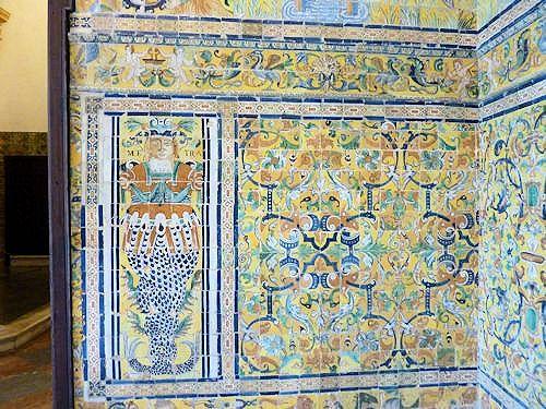 Tile wall in Alcazar
