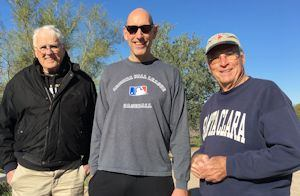 Volunteers (l-r) Les Conklin, Glen Lenzer, and Don Doherty, Courtesy Cindy Lee and Peter Cherry.