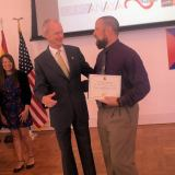 CCUSD Principal Dolezal Accepts Award from Spanish Embassy in DC