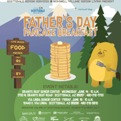 Scottsdale Father's Day Pancake Breakfasts, June 16, 10 AM