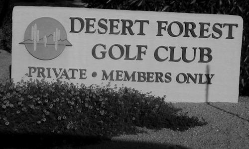 Desert Forest Sign