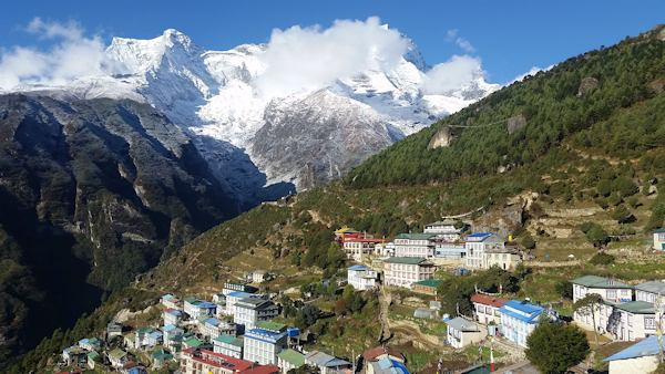 Skies Clear Above Namche Bazaar