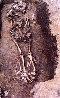 Shaman's grave with flute.