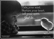Calm your mind. Nurture your heart. Lift your spirit. Just be..