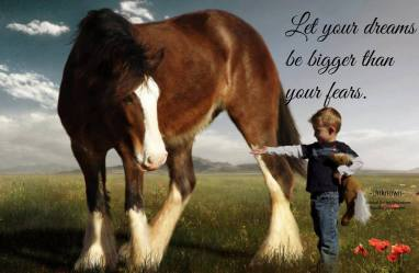 Let your dreams be bigger than your fears, your actions louder than your words, and your faith stronger than your feelings.. ~Unknown
