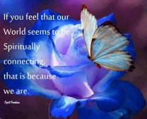 If you feel that our World seems to be Spiritually connecting,that is because we are. ~April Peerless