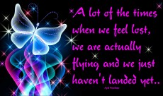 A lot of the times when we feel lost, we are actually flying and we just haven't landed yet. ~April Peerless
