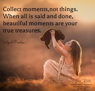 Moments are your true treasures. April Peerless