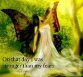 Sometimes to make a change in our lives it takes letting go of many things and sometimes even people in the life we currently are living. It may hurt, but later you will probably realize it was the best thing you ever did. You may even think to yourself, ''on that day I was stronger than my fears!''