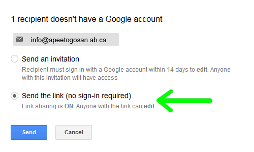 share your files using google drive apeetogosan métis