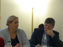 Claudia Schmidt and Franc Bogovic, MEPs and members of the APE