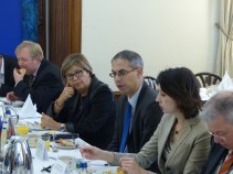 Arne Gericke, MEP and member of the APE, Mercedes Bresso, MEP and Vice President of the APE, Drahoslav Stefanek, Permanent Representative of the Slovak Republic to the Council of Europe, and Marcela Hanusova, Deputy Permanent Representative of the Slovak Republic to the Council of Europe