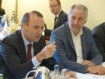 Manfred Weber and Georges Bach, MEPs and Vice Presidents of the APE