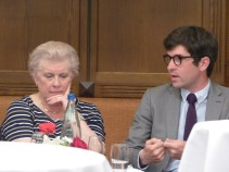 Catherine Trautmann, Vice president of the Eurometropole Strasbourg, former Minister and former MEP, and Clément Montagne, Vice President of AMES - Association of Masters in Economics of Strasbourg