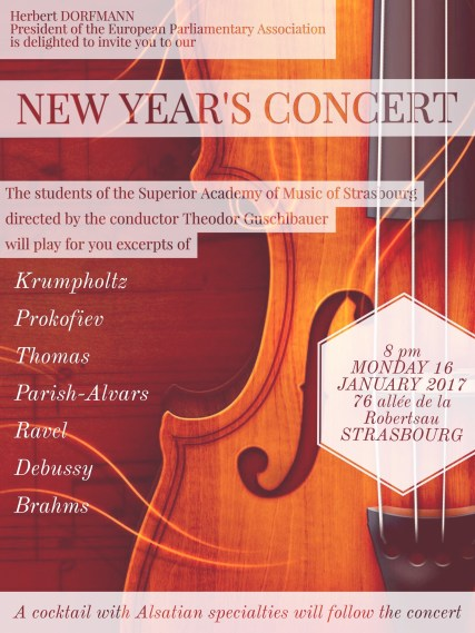 Monday, 16 January 2017 - New Year's Concert 2017
