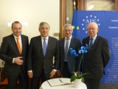 Manfred Weber, MEP and Vice President of the APE, Antonio Tajani, President of the European Parliament and member of the APE, Albert Dess, MEP and Treasurer of the APE, and Paul Clad, General Secretary of the APE