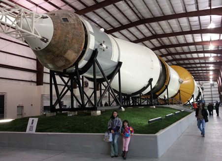 saturn rockets with burnt Command Module