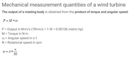 torque and angular speed