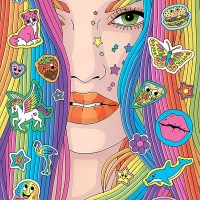 Sticker Inspired Pop Portraits and Illustrations by Fionna Fernandes