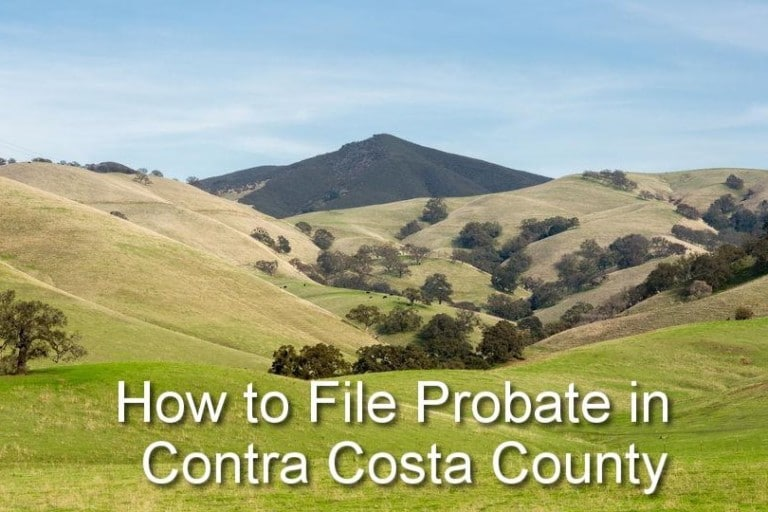 how to file probate in contra costa county
