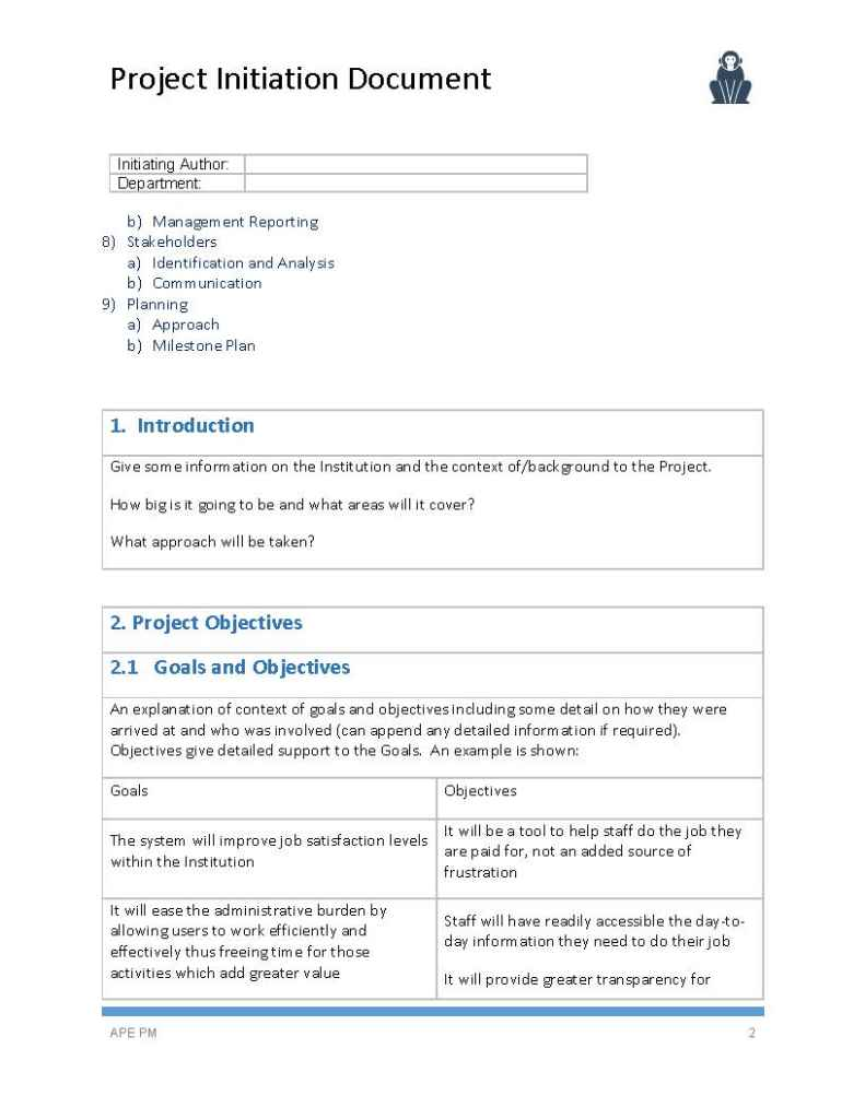Project initiation document template ape project management project initiation document template maxwellsz