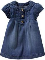 OLD NAVY Buttoned-Denim Dress for Baby