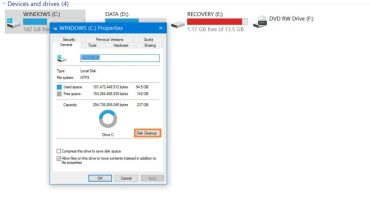 windows c system properties