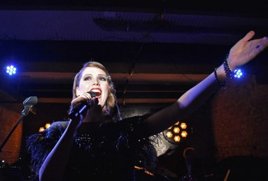 Laura Victor at concert Laura Victor and band at Hotel Provocateur. Berlin, Germany - 14.04.2018