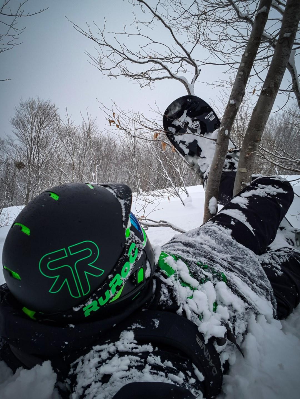 snowboard crash happo one hakuba