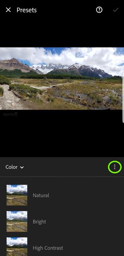 android lightroom mobile app presets