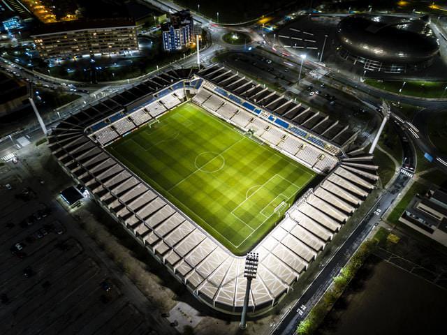 bird's eye view stadium