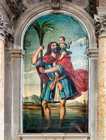 St. Christopher the patron saint of travelers