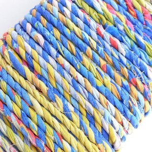 multicolour fabric twine