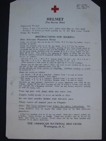 2ème guerre mondiale : instructions de la Croix Rouge