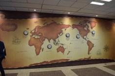 Mapa Mundial com representações da SEGA