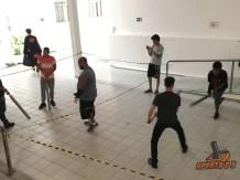 Nunes dando uns toques pra galera antes do torneio!