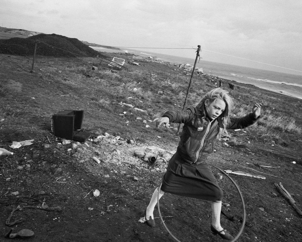Chris Killip, Girl With Hoop, 1987