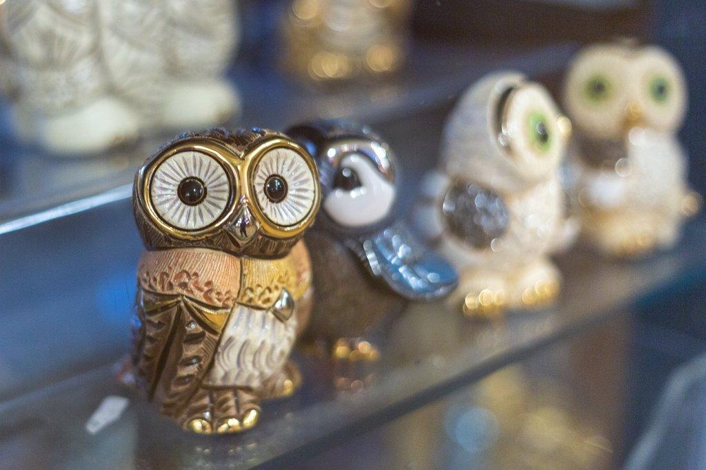 Trinkets in a shop from Pike Place Market in Seattle, Washington