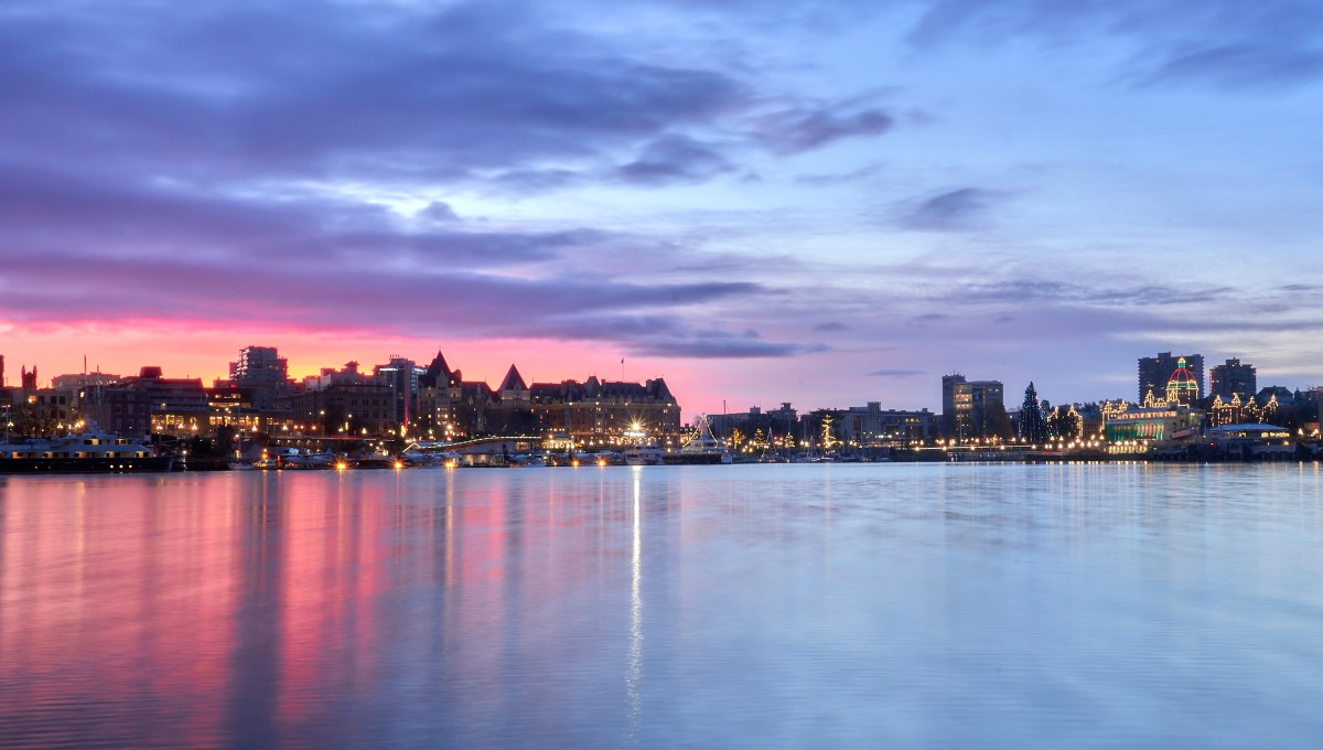 Sunrise over Victoria's inner harbour!