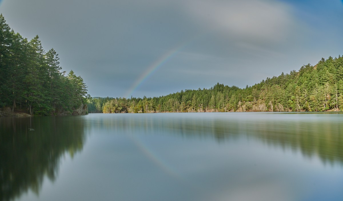 Rainbow over Thetis Lake!