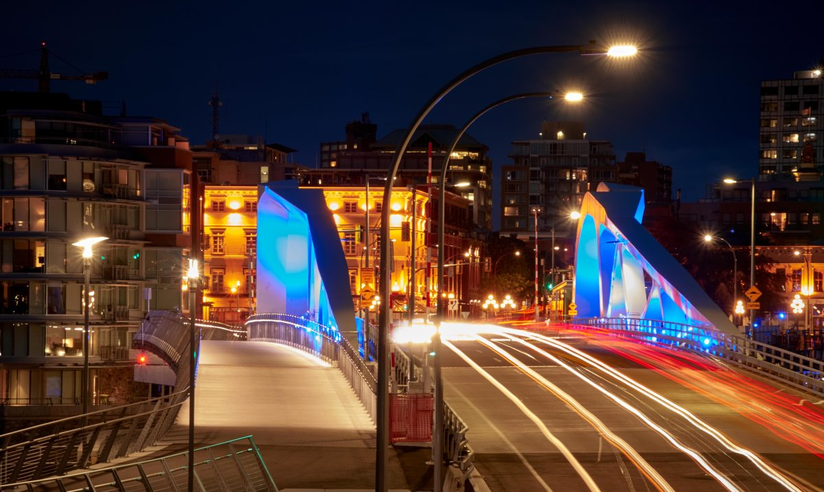 Victoria's New Blue Bridge!