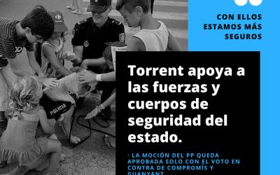 Torrent apoya a la Policía y la Guardia Civil pero no todos los grupos