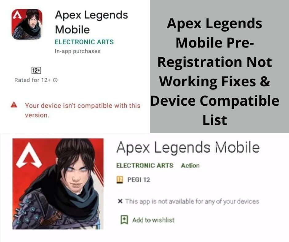 Apex Legends Mobile Pre-Registration Not Working & Device Compatible
