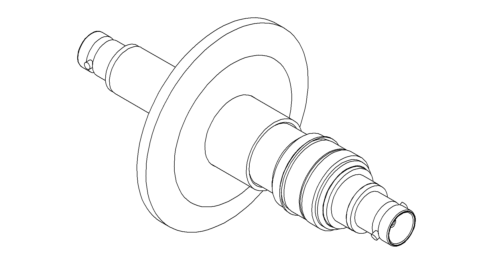 1 Pin Coaxial Bnc Quick Flange Double Ended Feedthrough