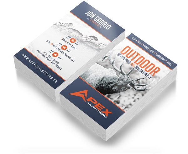 Hunting Business Card Design | Outdoor Advertising and ...