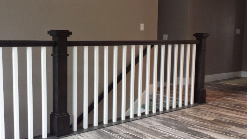 Salt Lake City Utah Custom Stair Railings And Banisters   Black Wood Stair Railing   Hardwood   Curved Wood   Ash Gray   Oak   Cantilever Stair