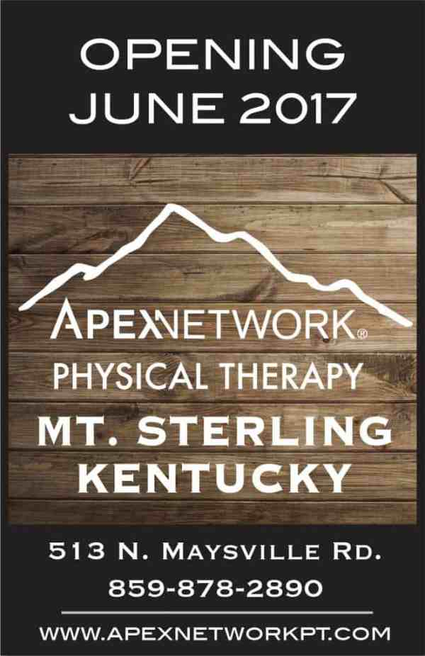 ApexNetwork Physical Therapy Opening Soon in Mt. Sterling ...