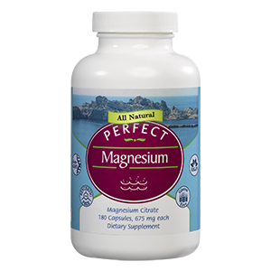 A bottle of Perfect Supplements Perfect Magnesium.